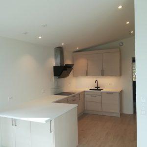 Kjøkkenmontering, nybyggd enebolig Ålesund, maj 2019